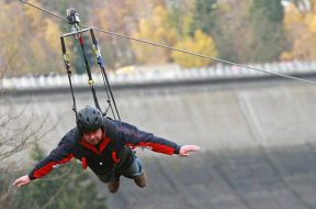 Double rope zip line opens in Germany