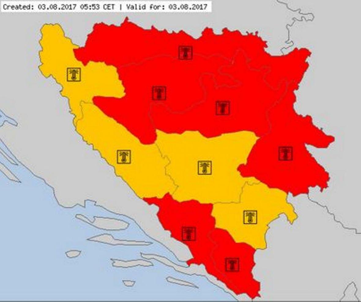 Crveni alarm u većini BiH