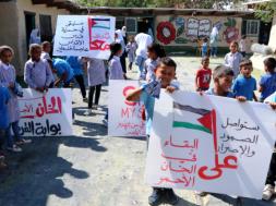 Palestina_djeca_selo_Khan Al_Ahmar_Wafa