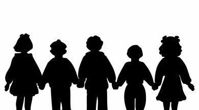 children-holding-hands-silhouette