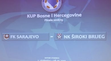 Sarajevo domaćin prve utakmice finala Kupa BiH