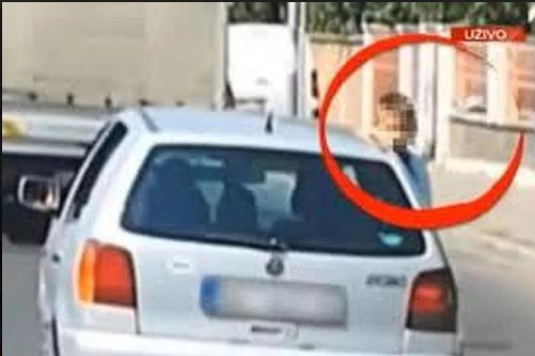 Kažnjena majka koja je vozila dijete na prozoru auta u Beogradu