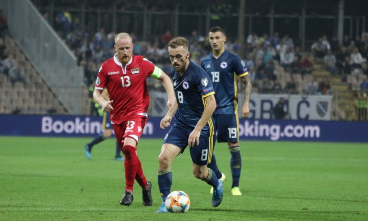 Nogometaši BiH s visokih 5:0 porazili Lihtenštajn