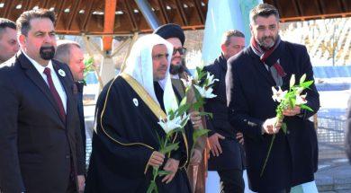 Delegacija Svjetske muslimanske lige odala počast žrtvama genocida u Potočarima