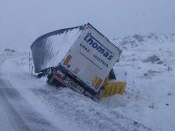 Kamion sletio s ceste na Kupreškom polju