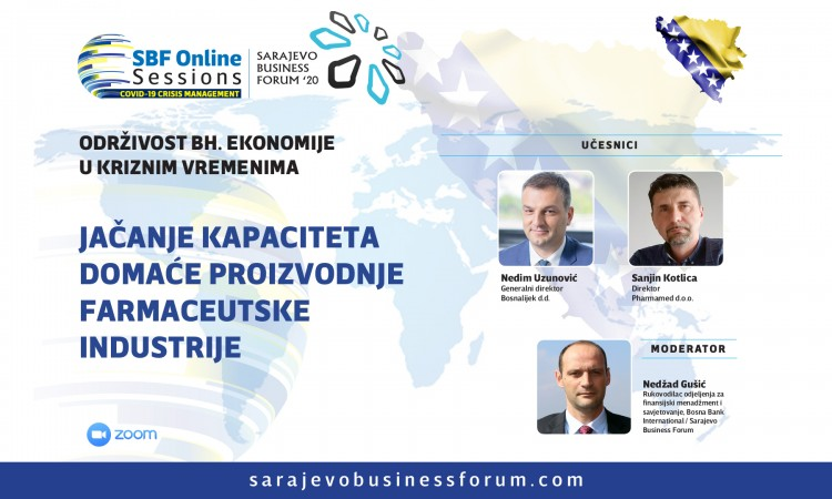 SBF online sesija: Osloniti se na domaće proizvođače lijekova