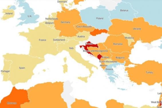 Screenshot_2020-06-27 Mapa New York Timesa Hrvatska ima najjači porast broja novozaraženih u Evropi