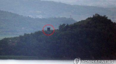 Sjeverna_Koreja_postavljanje_zvucnika_Yonhap
