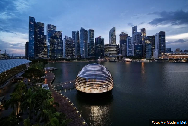 Kompanija Apple u Singapuru otvorila prodavnicu na vodi