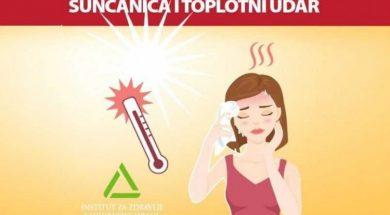 Sunčanica i toplotni udar najveći neprijatelji organizma