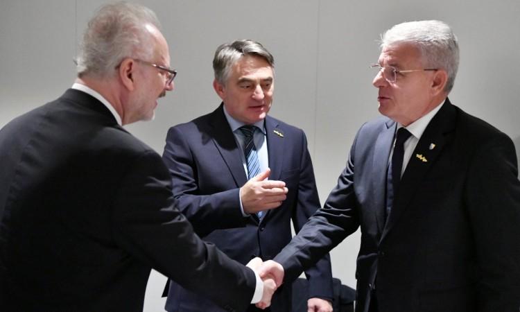 Komšić i Džaferović s predsjednikom Latvije o intenziviranju saradnje