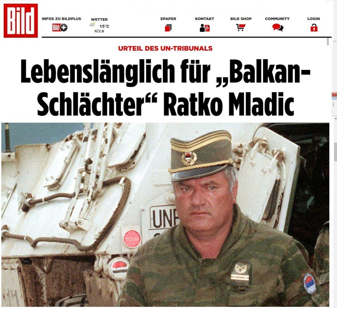 Svjetski mediji o presudi Mladiću: Doživotni zatvor za balkanskog krvnika