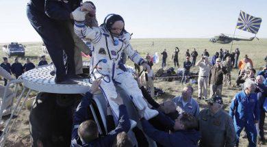 Russian Soyuz MS-07 space capsule lands in Kazakhstan