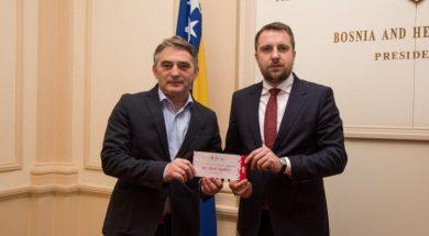 Skaka uručio članovima Predsjedništva BiH pozivnice za otvorenje EYOF-a