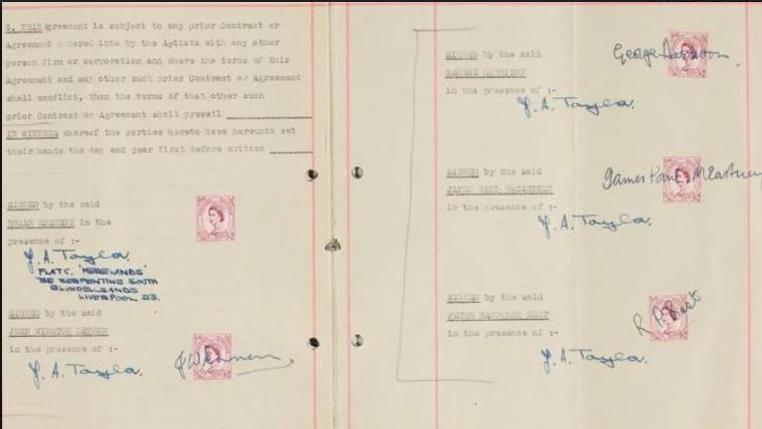 Prvi ugovor kultnih Beatlesa prodan na aukciji za 340.000 dolara