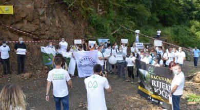 Održan protest građana Foče protiv izgradnje MHE na rijeci Bjelavi