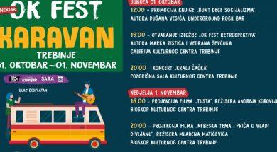 Nektar OK Fest karavan u Trebinju 31. oktobra i 1. novembra