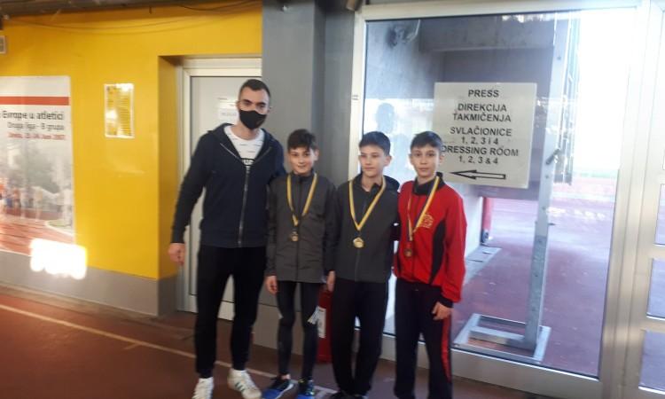 Mladi atletičari Slobode osvojili pet medalja na dvoranskom prvenstvu BiH