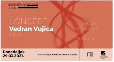 Online koncert gitariste Vedrana Vujice 29. marta