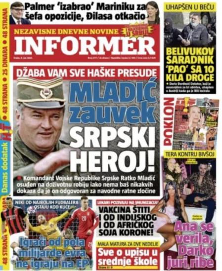 Sramotno i nebulozno izvještavanje srbijanskih tabloida
