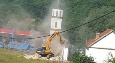 Počelo uklanjanje nelegalno izgrađene crkve iz dvorišta Fate Orlović