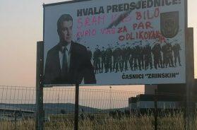 Sporno tko je postavio plakat podrške hrvatskom predsjedniku u Tomislavgradu